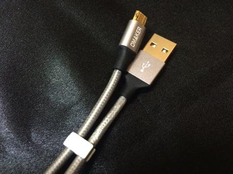 USB⇔Micro USBの両面リバーシブルケーブル Omaker