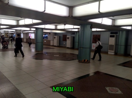 MIYABIで地下鉄の通路