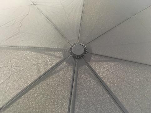 ボタン一発、ワンタッチで自動開閉する折りたたみ傘 裏地