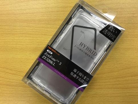 ZenFone3にピッタリなRay OutのTPU・ポリカーボネートケース01