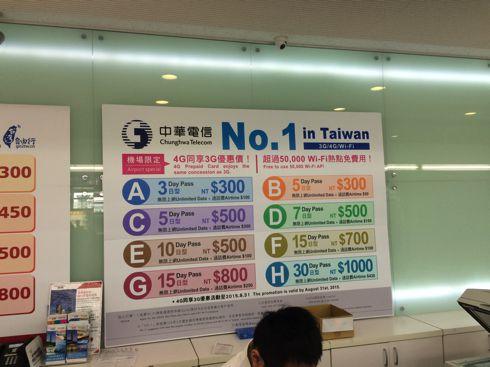 中華電信。日本でいうドコモ