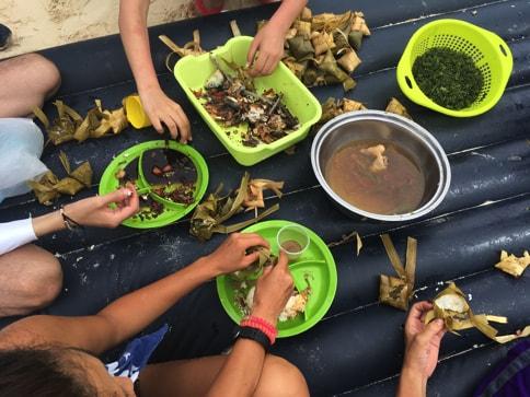 バジャウ族と作る料理07
