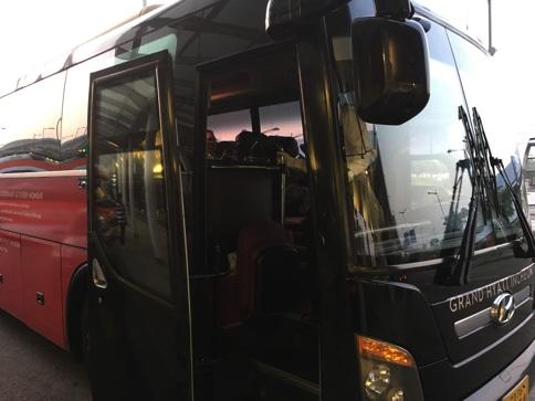 仁川空港からグランドハイアットへのバス