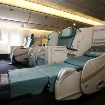 大韓航空のビジネスクラスとエコノミークラスのシートの違い(Airbus333)