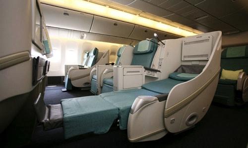 大韓航空Airbus333のビジネスクラス(プレステージクラス)の座席