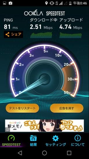 平日昼のアキバで2.5Mbps