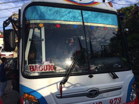 バギオ行きのバス