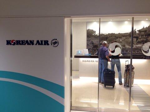 成田空港の大韓航空のラウンジ