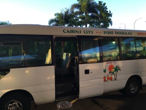 ケアンズ空港のシャトルバス