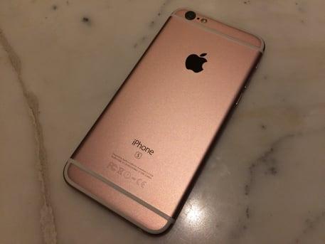 シャッター音の鳴らないSIMフリー香港版iPhone6sローズゴールド