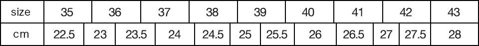 ビルケンシュトックのサイズ表