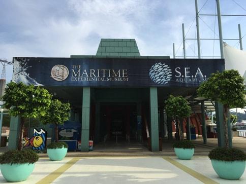 シンガポール・セントーサ島のシーアクアリウムの入り口