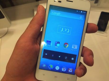 UPQ Phone A01のディスプレイ