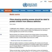 WHOがタバコの出てくる映画を成人向けにするよう勧告。表現の規制とゾーニング