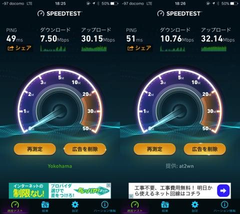 DTI SIMの通信速度
