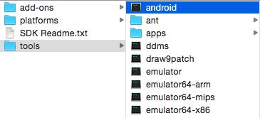 androidというファイルを開く