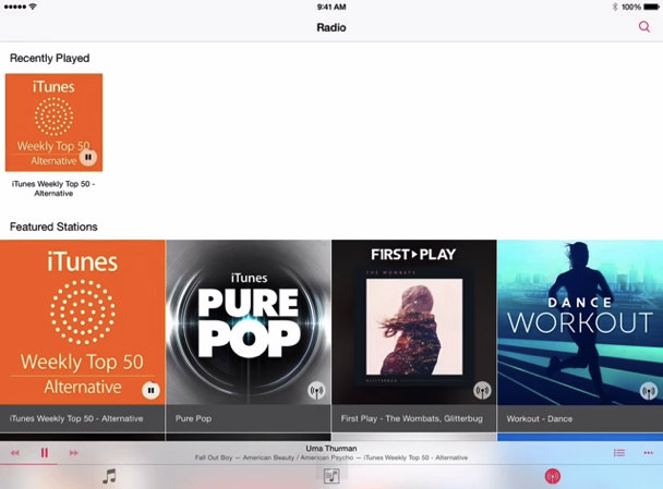 iOS8.4のミュージックアプリ01