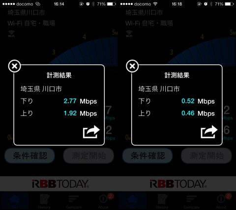 DMM mobile・OCNモバイルONEの格安SIMの通信速度比較。川口