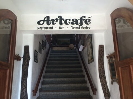Art Cafeの入り口