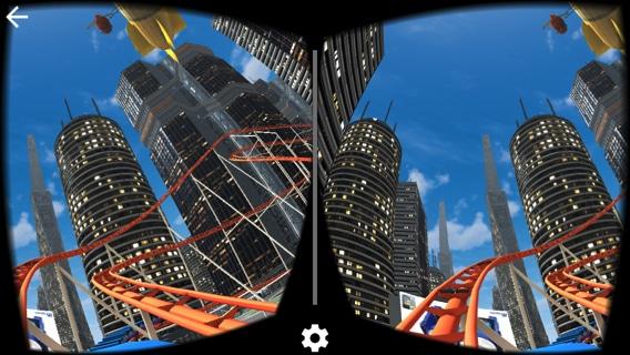VRゴーグルを使ってジェットコースターを楽しむ