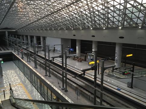 仁川空港からソウル市内を繋ぐ電車