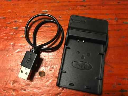Canon Kiss x7のバッテリー充電器「LC-E12」がなくなったので互換性のあるUSB充電器を購入02