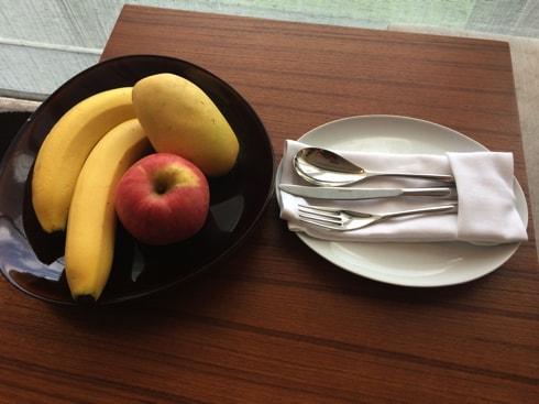 果物が置いてありました。朝食にピッタリ