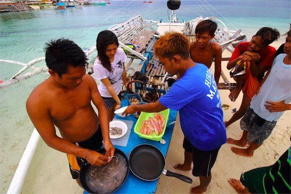 バジャウ族と作る料理01