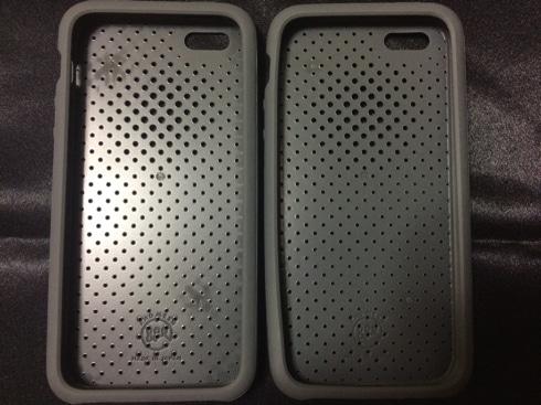 DAQのiPhone SE用ケース「AndMesh」の新旧比較