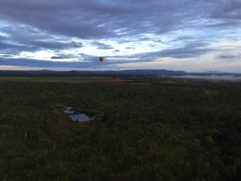 ケアンズの気球ツアー 空からの景色をiPhoneで