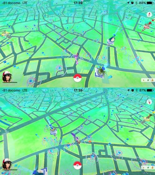 渋谷のポケストップの数 地域格差