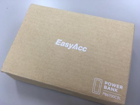 EasyAcc 6700mAh Lightningケーブル内蔵モバイルバッテリーの箱