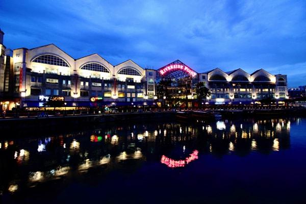 シンガポール リバークルーズからの景色