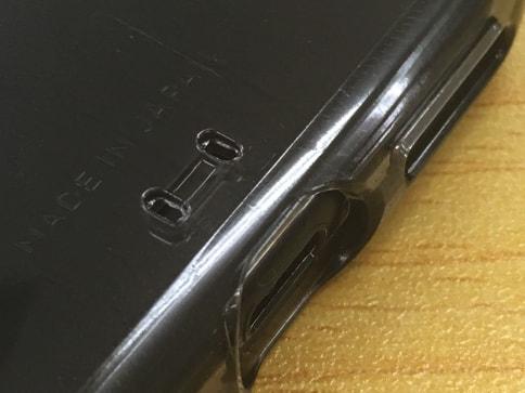 AndMesh iPhone7ケース Plain Case クリアケースはジェットブラックでも気泡が張り付かない05