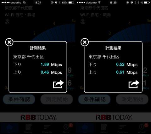 DMM mobile・OCNモバイルONEの格安SIMの通信速度比較。秋葉原